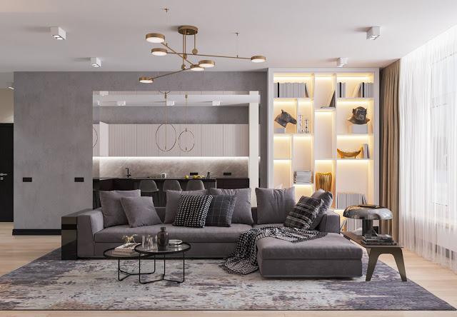 Дизайн интерьера просторной квартиры