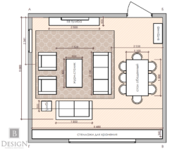 Планировка комнаты после утверждения