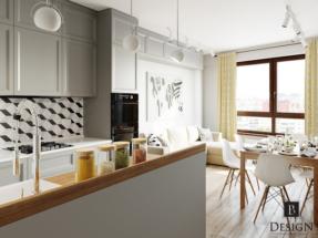 Кухня с гостиной