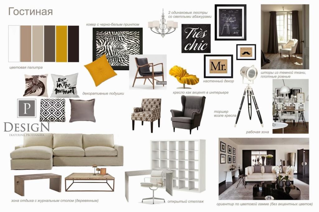 Дизайн концепция гостиной дома