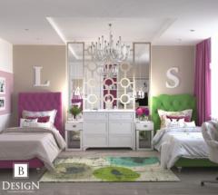Гостевая детская комната для двух девочек