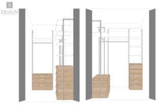 Конфигурация гардеробной комнаты