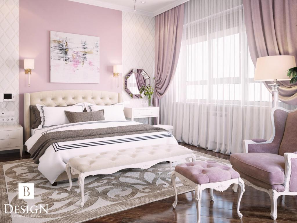 Дизайн розовой спальни