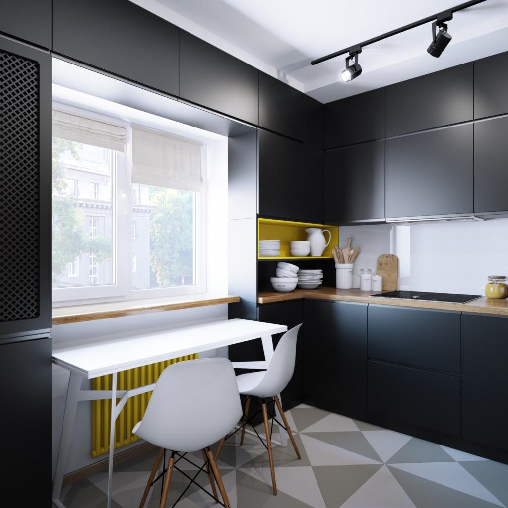 Заказать дизайн черной кухни