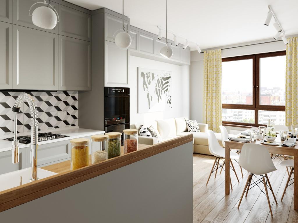 Заказать дизайн серой кухни 2