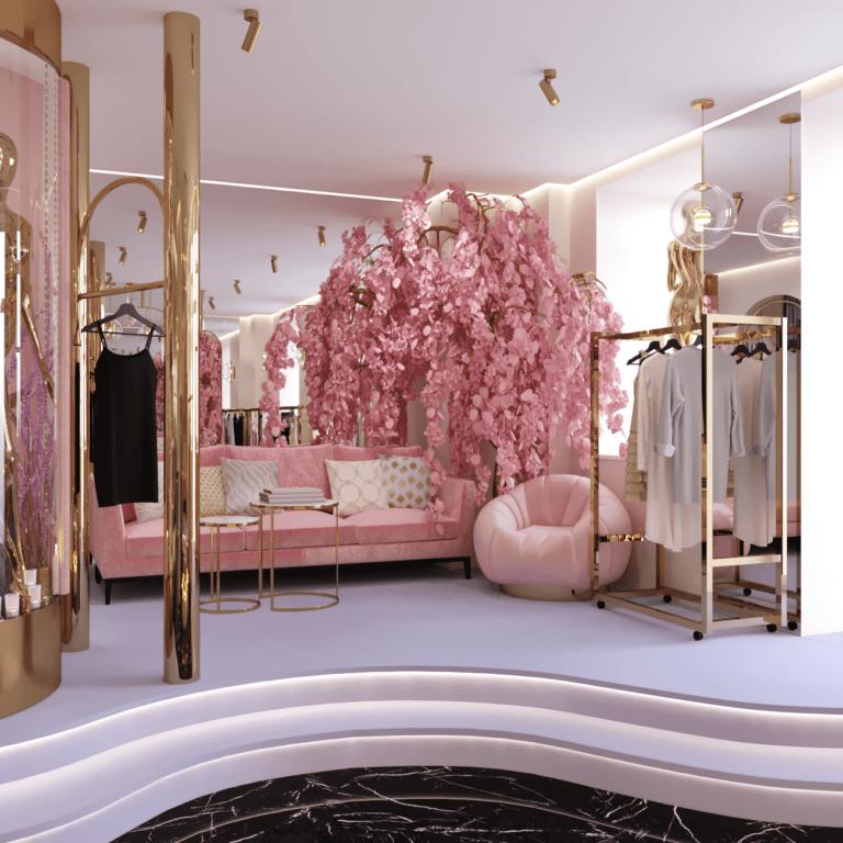 Дизайн шоурума одежды 1