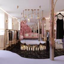 Фото дизайн шоурума одежды